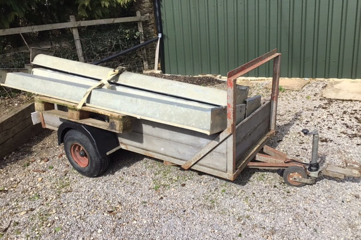 For Sale - small but useful non braked farm trailer